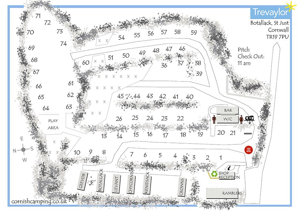 Trevaylor Site Map
